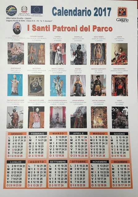 Santi Del Calendario.Parco Del Gargano Il Calendario Dei Santi Patroni
