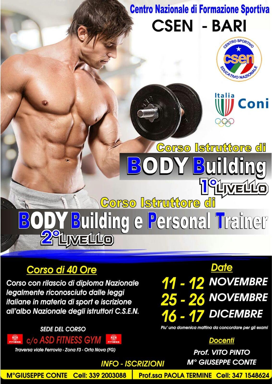 Palestra Vico Del Gargano corsi di body building a orta nova
