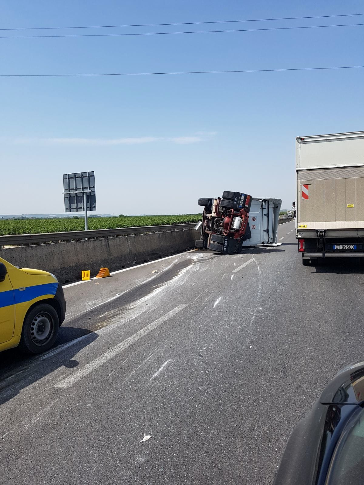 Incidente camion statale 16-2