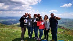Biccari gruppo giornalisti sul Monte Cornacchia-3