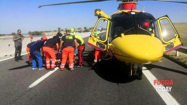 Incidente stradale sulla strada per Torre Mileto: violento tamponamento sulla Sp 41, due feriti di cui uno grave