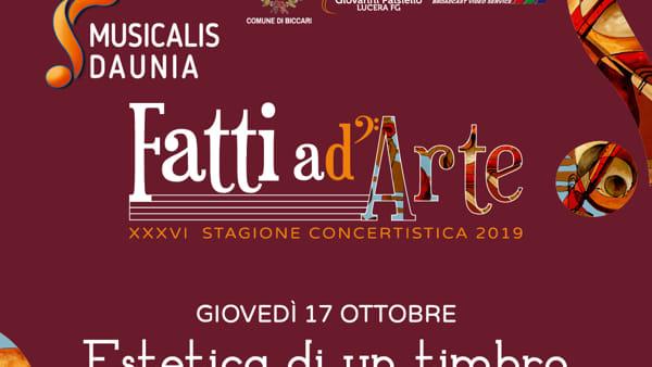 """""""Estetica di un timbro"""": Musicalis Daunia fa tappa a Biccari"""