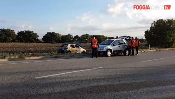 Incidente mortale sulla Statale 17: esce fuori strada con l'auto, che prende fuoco senza lasciargli scampo