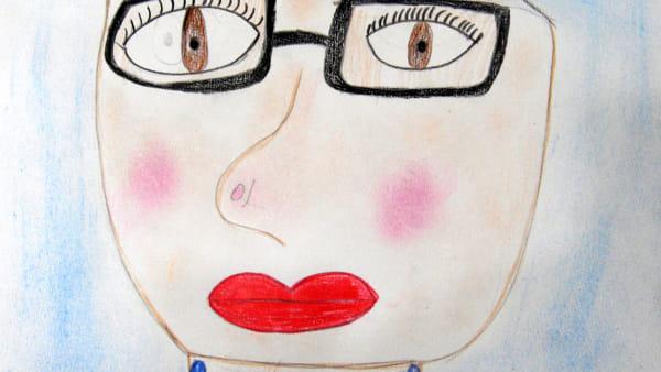 Il mio autoritratto. Disegno di Asia Cangio.-2