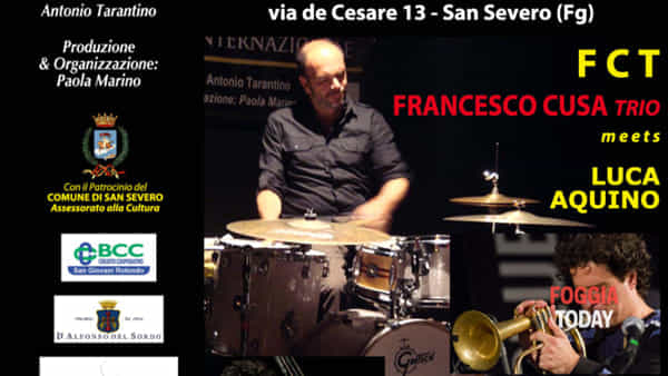 San Severo Winter Jazz: Il trio di Francesco Cusa e Luca Aquino live al Caffè tra le Righe