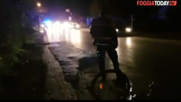 Pullman investe ciclista in via San Severo: le immagini video sul luogo dell'incidente stradale
