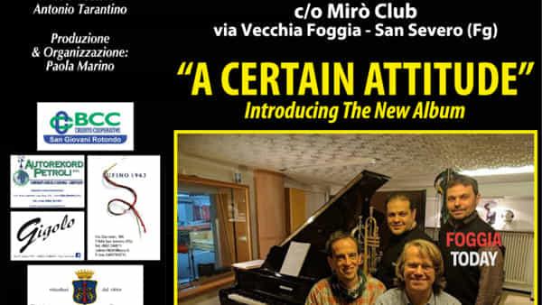 """A certain attitude"": Tony Pancella & Gregory Rivkin 4tet protagonisti al San Severo Winter Jazz"