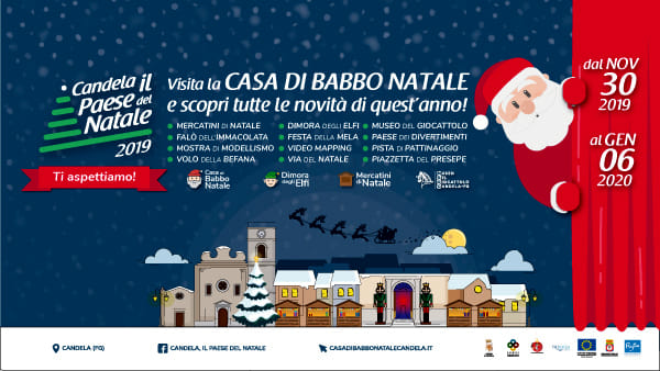 Tutta la magia del Natale a Candela con la Casa di Babbo Natale e tanto altro