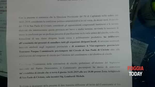 COMMISARIAMENTO SEZIONE PD DI SAN PAOLO DI CIVITATE-2