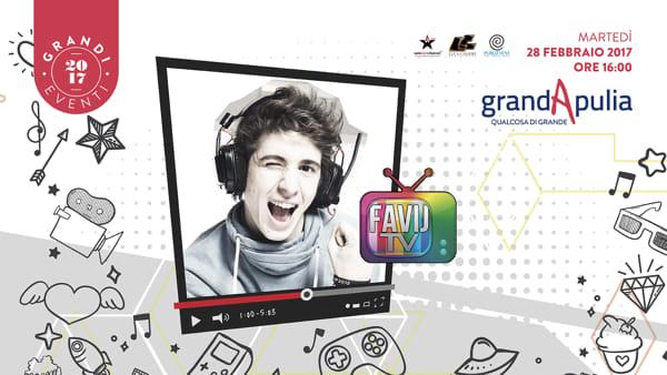 Favij a Foggia: il re degli youtubers ospite al GrandApulia
