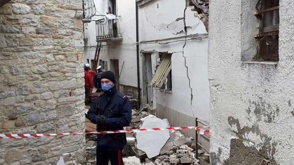 Donna morta ad Alberona, prima l'esplosione poi il crollo dell'abitazione: le immagini sul luogo della tragedia