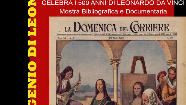 Alla Biblioteca una mostra dedicata a Leonardo da Vinci a 500 anni dalla sua scomparsa