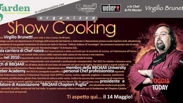 Show cooking con il grande Virgilio Brunetti, al Garden Piccolo Giardino