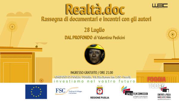 Realtà.doc, 'Dal profondo' di Valentina Pedicini al cineporto di Foggia