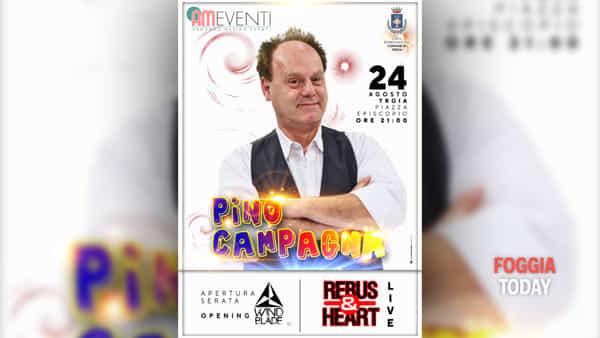 Pino Campagna a Troia: spettacolo in Piazza Episcopio
