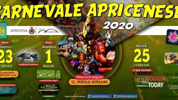 Tutto pronto per il Carnevale Apricenese: il programma degli eventi