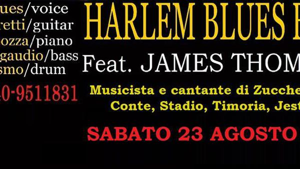 Harlem Blues Band feat. James Thompson, in concerto al Panta Rei