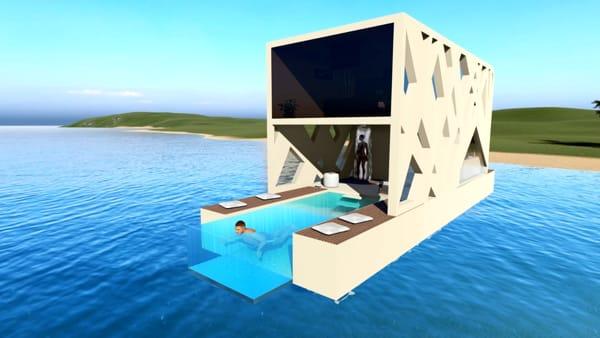 """VIDEO - In mare come in albergo, le 12 'isole felici' per un resort galleggiante: """"Ideali per ogni specchio d'acqua"""""""