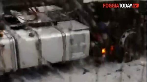 VIDEO | Maltempo in Capitanata: pioggia, temporali e grandine (le immagini dalla Statale 655)