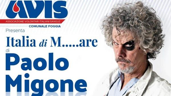 Oltre cinquemila donatori di sangue nel 2017: l'Avis Foggia ringrazia con lo spettacolo di Paolo Migone