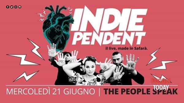 I 'The people Speak' saranno i prossimi protagonisti di 'Indiependent live, made in safarà'