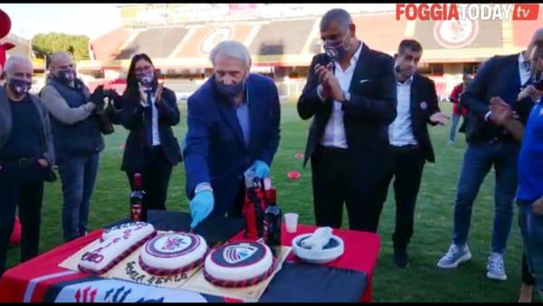 Buon compleanno Foggia calcio: allo 'Zac' passato, presente e futuro festeggiano i primi cento anni del club rossonero