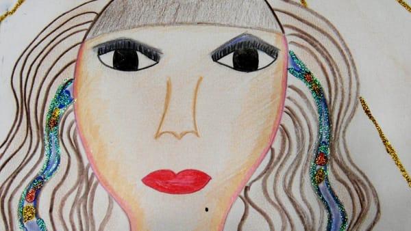 Io Cleopatra , regina d'Egitto. Disegno di Malika Haddouch-3