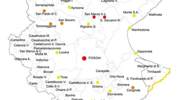 Cartina Puglia Con Tutti I Paesi.Coronavirus In Provincia Di Foggia La Mappa Dei Contagi