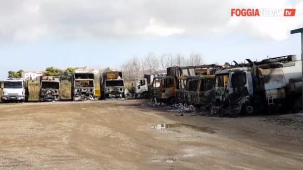 Mezzi dei rifiuti distrutti da un incendio, lo Stato raggiunge anche la lontana Chieuti: sarà incrementata la vigilanza