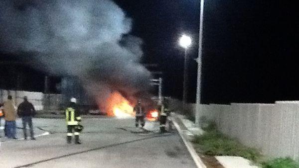 Orta Nova: incendio cabina Enel via Tratturo Incoronata