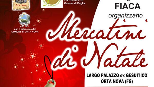 """Artigianato e gastronomia: ad Orta Nova la magia de """"I Mercatini del Natale"""""""