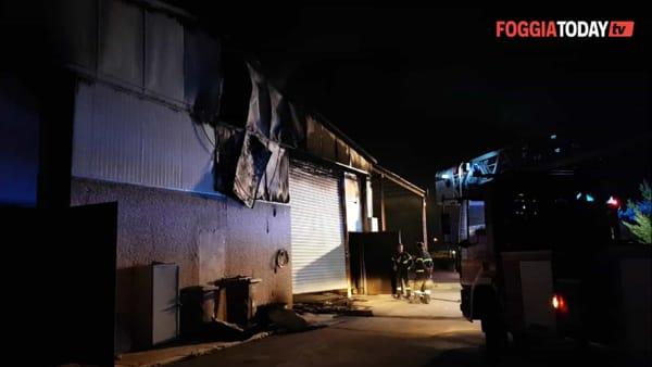 Incendio al Centro comunale di raccolta a Carapelle: le fiamme distruggono un capannone e danneggiano dei compattatori