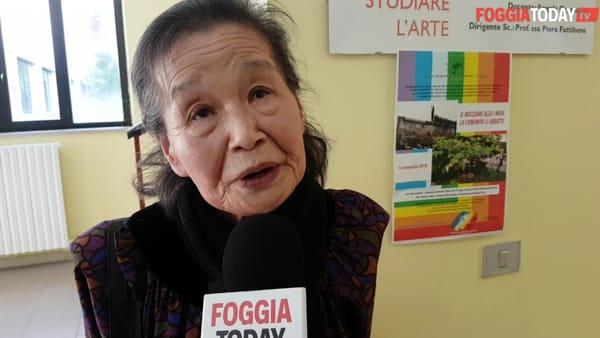 """Sopravvissuta alla bomba atomica di Hiroshima, Hara Francesca Hiroko al liceo Marconi: """"Ricordo la pioggia nera e il caldo da morire"""""""