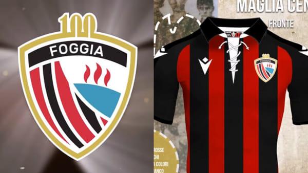 100 anni di amore: ecco il logo e la maglia del centenario, così il Foggia celebra la storia e la gloria dei rossoneri