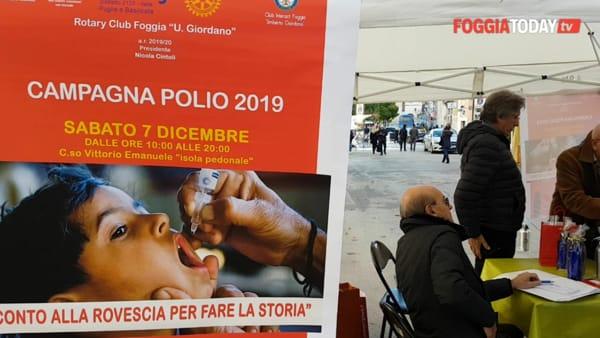 """Un piccolo contributo per dare una """"spallata definitiva"""" alla polio. L'appello del Rotary 'Giordano': """"Manca poco per fare la storia"""""""