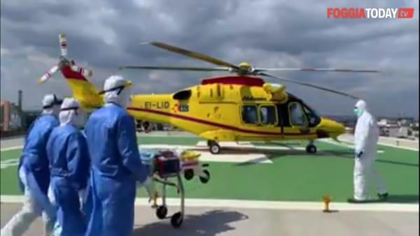 Coronavirus: grave paziente foggiano. In volo verso Bari per la vita: sarà collegato al polmone artificiale