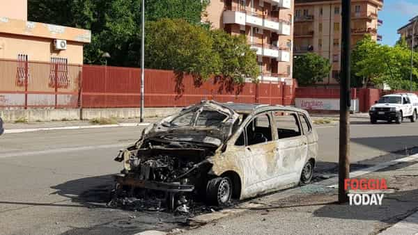 VIDEO - Fiamme alte e fumo in via Baffi: le immagini dell'incendio che ha distrutto un'auto