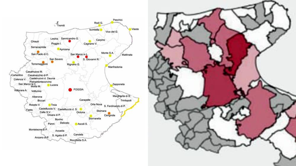 Cartina Puglia Zona Gargano.Coronavirus I Casi Positivi Nei Comuni Foggiani La Mappa Del Contagio